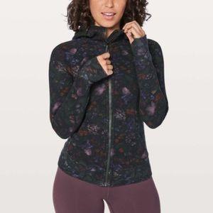 Lululemon black floral scuba hoodie jacket 4